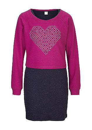 2 in 1 Kleid mit Pullover