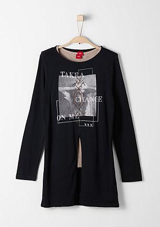 2-in-1-Langarmshirt mit Print