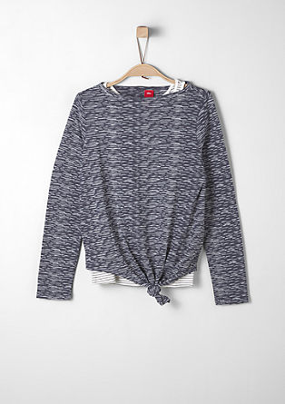 2-in-1-Langarmshirt mit Top