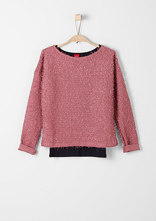 2-in-1-Pulli mit Top