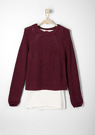 2 in 1-Pullover mit Top
