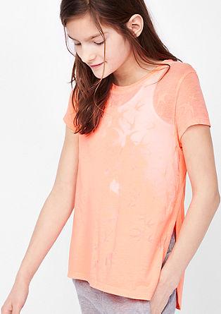 2-in-1 shirt met ausbrenner motief en top
