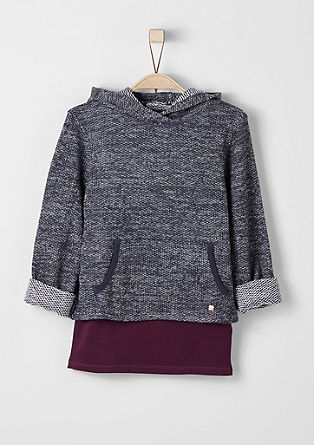 2-in-1-Sweatshirt mit Top