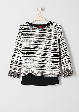 2 in 1-Sweatshirt mit Top