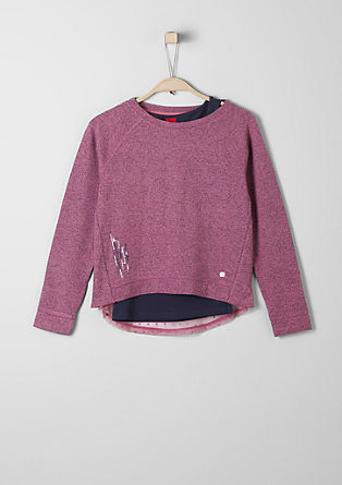 2-in-1 Sweatshirt mit Top