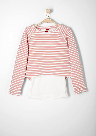 2-in-1 sweatshirt with a top from s.Oliver