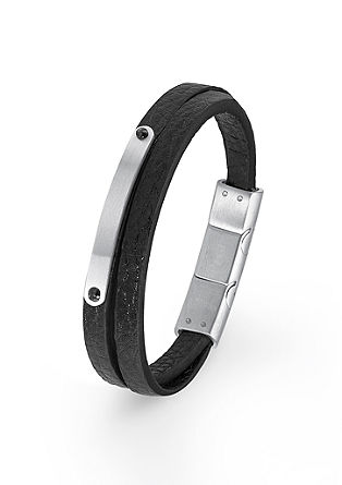 2-rijige armband met plaatje