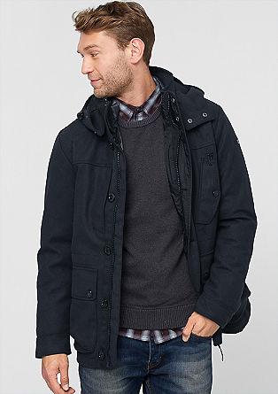 2 v 1 volnena jakna s puhovko