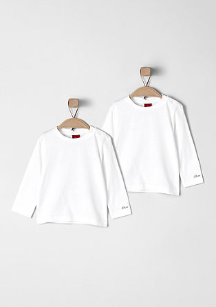 2er-Pack Basic-Longsleeves