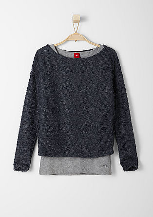 2in1-Pullover mit Top