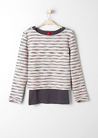 2in1 Pullover mit Top