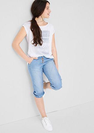 3/4-Jeans mit Bündchen