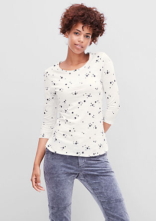 3/4-Shirt mit Musterprint
