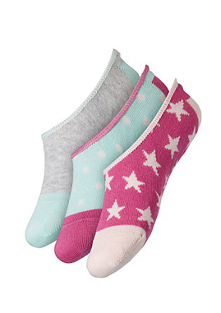 3er-Pack Footies mit Muster