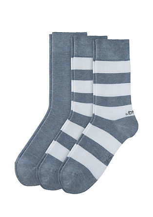 3er-Pack Langschaft-Socken