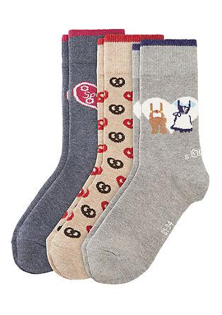 3er-Pack Oktoberfest-Socken