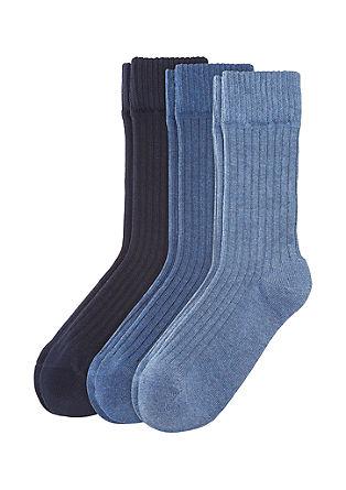 3er-Pack Ripp-Socken