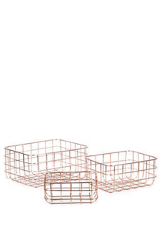 3er-Set Dekokörbe aus Metall