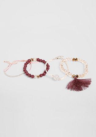 4-delige set armbanden
