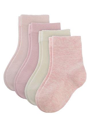 4er-Pack farbige Baby-Socken