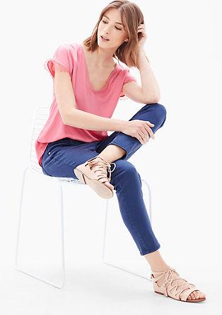 7/8-broek in een coloured-look