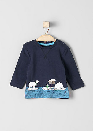 Long sleeve top with a polar bear print from s.Oliver