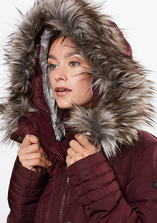 Warmer Daunen-Parka mit Fake Fur