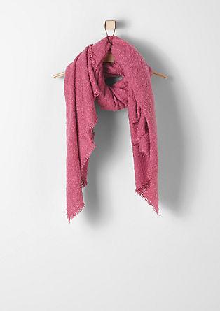 Aangenaam zachte bouclé sjaal