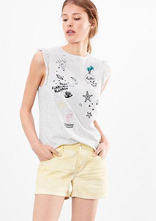 Abby Regular: kratke hlače, barvane s postopkom pigmentiranja