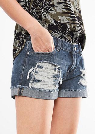 Abby Regular: kratke hlače obrabljenega videza