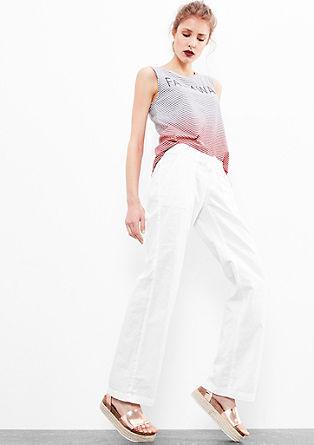 Abby wide: lichte linnen broek