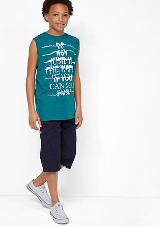 Ärmelloses Shirt mit Print