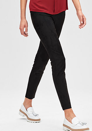 Ankle-Jeggings in Wildleder-Optik