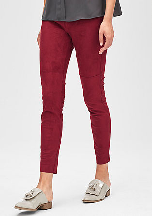 Ankle-length jeggings in faux suede from s.Oliver