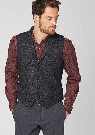 Anzugweste aus Woll-Mix