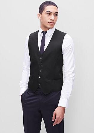 Anzugweste mit Satin-Rücken