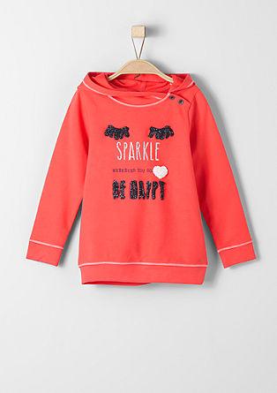 Appliquéd hoodie from s.Oliver