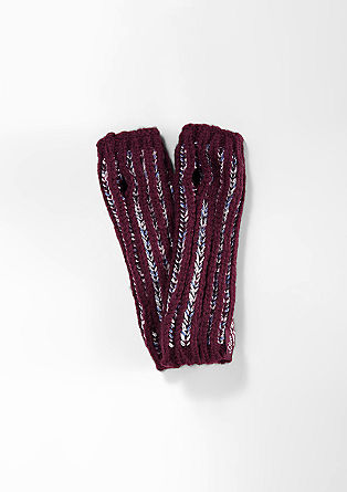 Arm warmers with a glitter effect from s.Oliver