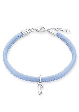 Armband aus blauem Leder