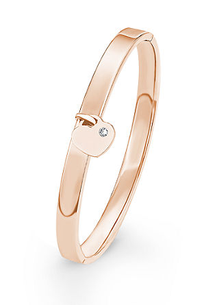Armband met hart en Swarovski-kristal