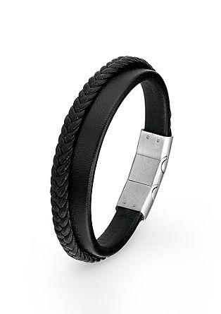 Armband met vlechtwerk en edelstaal