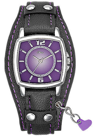 Armbanduhr im Farbkontrast-Look