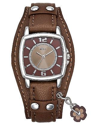 Armbanduhr mit Blütenanhänger