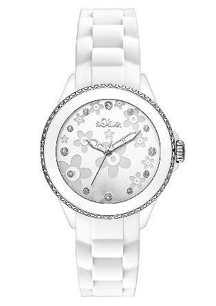 Armbanduhr mit Blumen-Deko