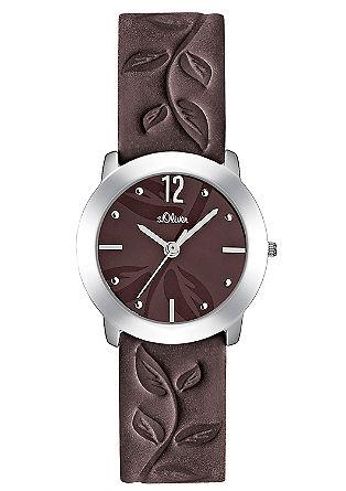 Armbanduhr mit geprägtem Band