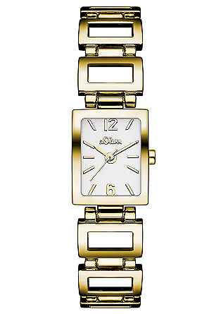 Armbanduhr mit rechteckigen Gliedern