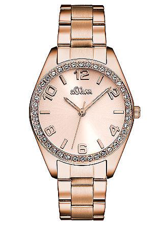 Armbanduhr mit Strasssteinen