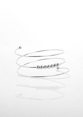 Armreif-Spirale mit Metallperlen
