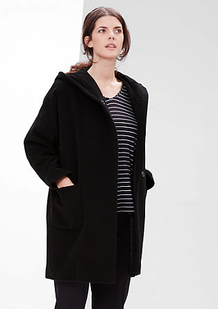 Asymmetric hooded coat from s.Oliver