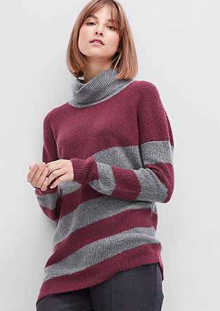 Asymmetric knitted jumper from s.Oliver